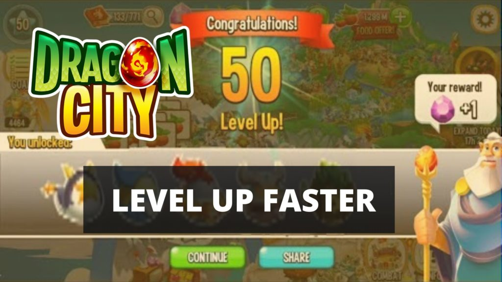 level up fast in dragon city